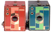 the red and lime Beau Brownie Cameras