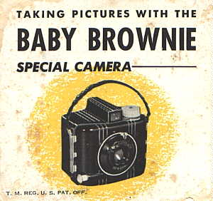 Reduced Image of Kodak Baby Brownie Special Camera Instruction Manuel Click to Enlarge. You may have to click allow popups to view